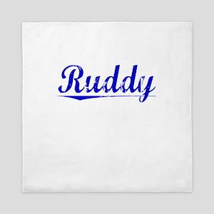 Ruddy, Blue, Aged Queen Duvet