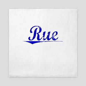 Rue, Blue, Aged Queen Duvet