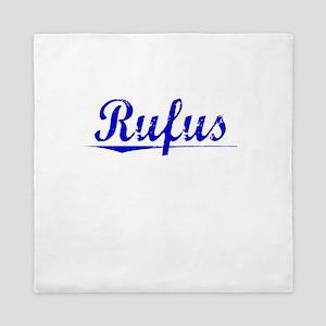 Rufus, Blue, Aged Queen Duvet