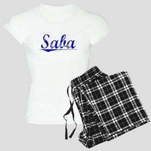 Saba, Blue, Aged Women's Light Pajamas
