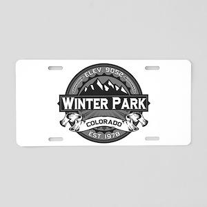 Winter Park Grey Aluminum License Plate