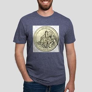 Maine Quarter 2012 Mens Tri-blend T-Shirt