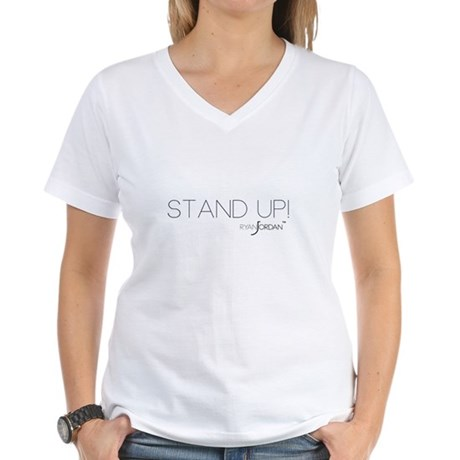 Ryan Jordan - Stand Up Women's V-Neck T-Shirt