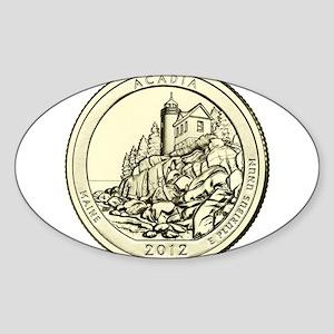 Maine Quarter 2012 Sticker (Oval)