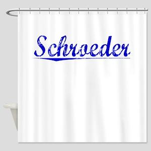 Schroeder, Blue, Aged Shower Curtain