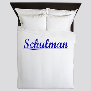 Schulman, Blue, Aged Queen Duvet