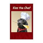 Black Labrador Chef Mini Poster Print