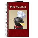 Black Labrador Chef Recipie or Note Journal