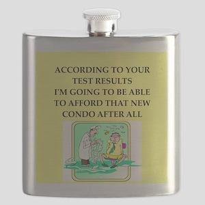 icu doctor joke gift apparel Flask