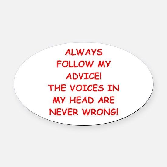 advice Oval Car Magnet