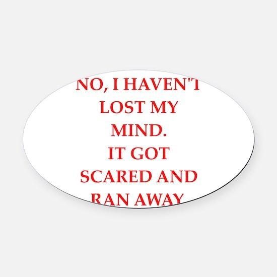 mind Oval Car Magnet