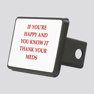 happy Rectangular Hitch Cover