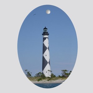 Cape Lookout Lighthouse Ornament Ornament (Oval)