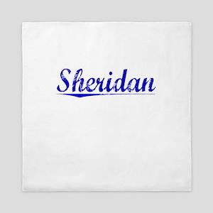 Sheridan, Blue, Aged Queen Duvet