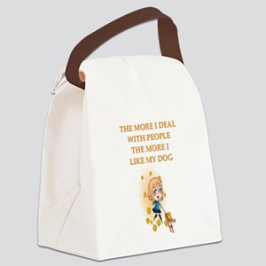 geek dog philosophy gists t-shirts Canvas Lunch Ba