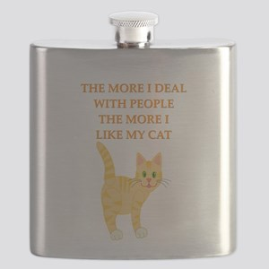 girl geek cat lover gifts t-shirts Flask