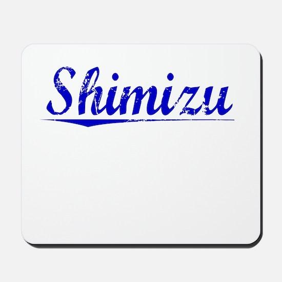 Shimizu, Blue, Aged Mousepad