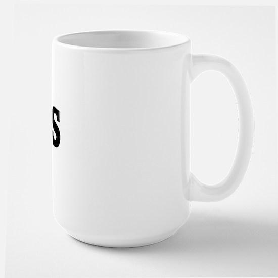 Anti HORSES Large Mug
