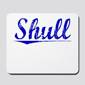 Shull, Blue, Aged Mousepad