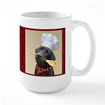 Black Labrador Chef Large Mug