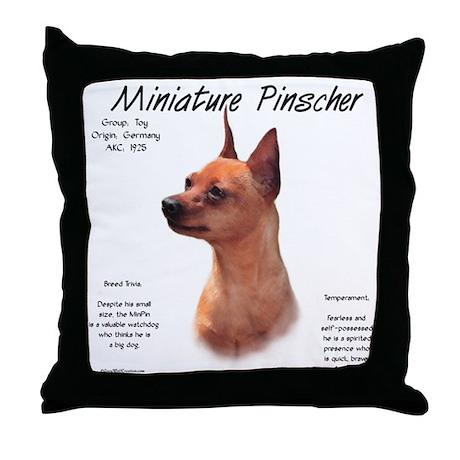 Min Pin (red/rust) Throw Pillow
