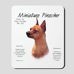Min Pin (red/rust) Mousepad