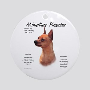 Min Pin (red/rust) Round Ornament