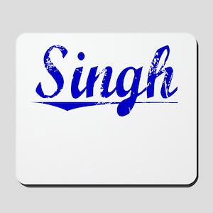 Singh, Blue, Aged Mousepad