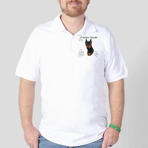 Min Pin (black & rust) Polo Shirt