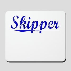 Skipper, Blue, Aged Mousepad