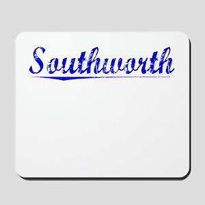 Southworth, Blue, Aged Mousepad