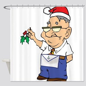 Mistletoe Masons Shower Curtain