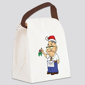 Mistletoe Masons Canvas Lunch Bag