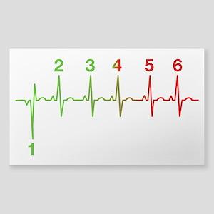 1N23456 Heartbeat Life Line Sticker