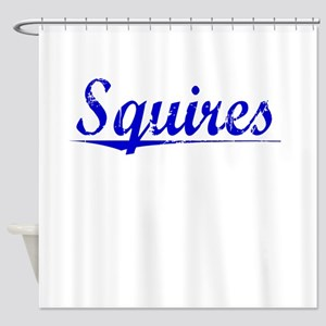 Squires, Blue, Aged Shower Curtain