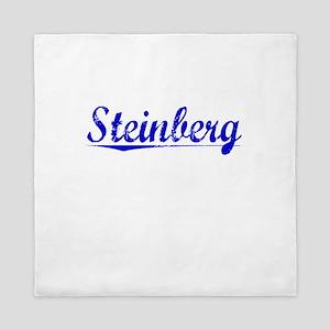 Steinberg, Blue, Aged Queen Duvet