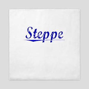 Steppe, Blue, Aged Queen Duvet