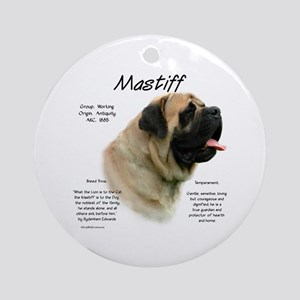 Mastiff (fawn) Round Ornament