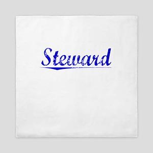 Steward, Blue, Aged Queen Duvet