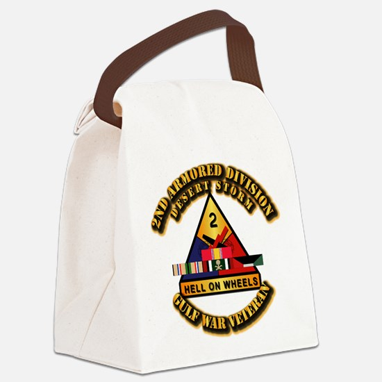 Army - DS - 2nd AR Div Canvas Lunch Bag