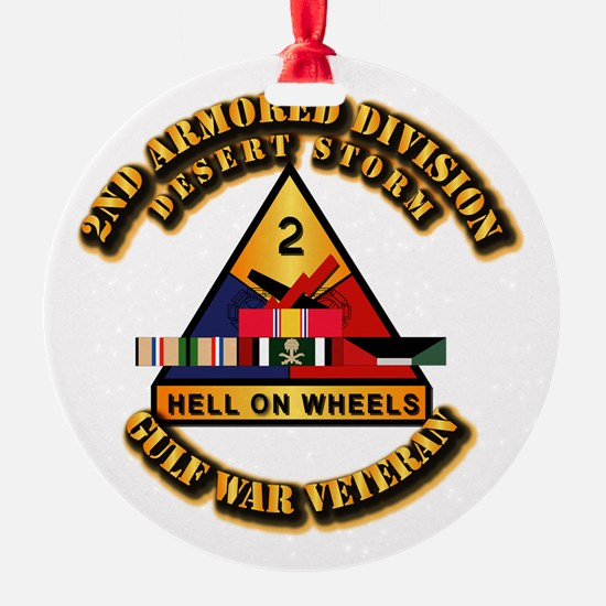 Army - DS - 2nd AR Div Ornament
