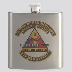Army - DS - 2nd AR Div Flask