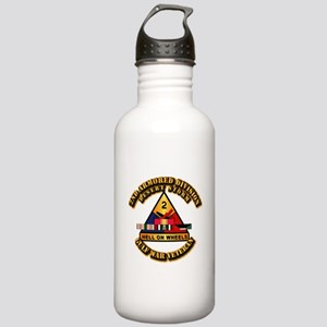 Army - DS - 2nd AR Div Stainless Water Bottle 1.0L