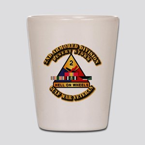 Army - DS - 2nd AR Div Shot Glass