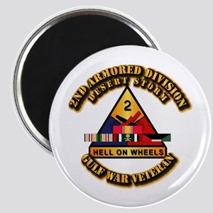 Army - DS - 2nd AR Div Magnet