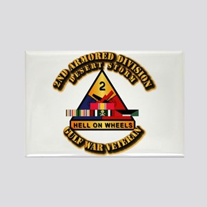 Army - DS - 2nd AR Div Rectangle Magnet