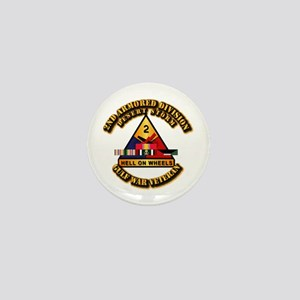 Army - DS - 2nd AR Div Mini Button