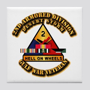 Army - DS - 2nd AR Div Tile Coaster