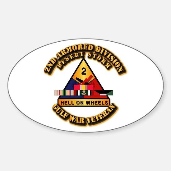 Army - DS - 2nd AR Div Sticker (Oval)