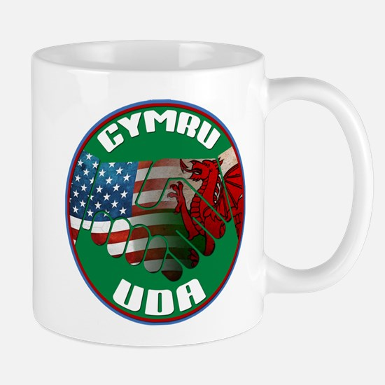 Wales USA Friendship (in Welsh) Mug